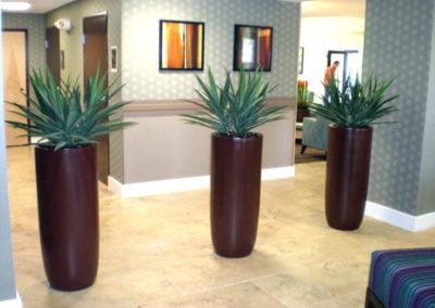 Large fiberglass planters
